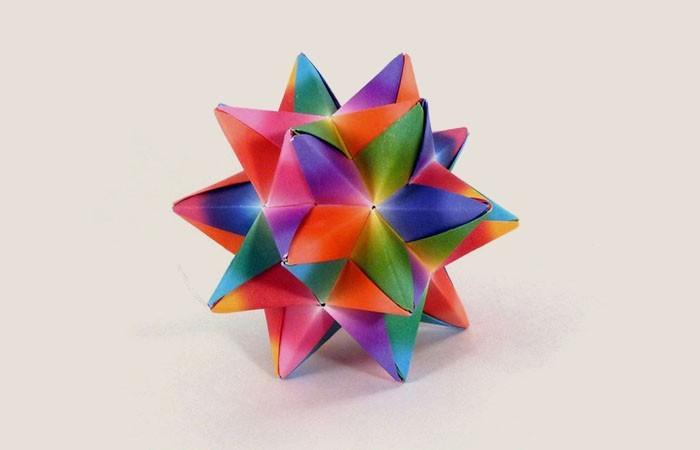 herrnhuter stern selber basteln aus papier dreidimensional
