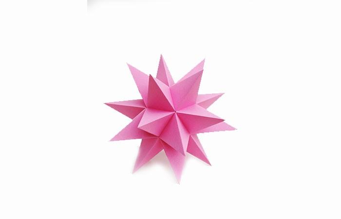 herrnhuter stern selber basteln rosa aus papier