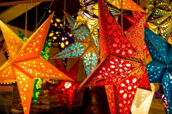 herrnhuter stern selber basteln weihnachtsdeko ideen