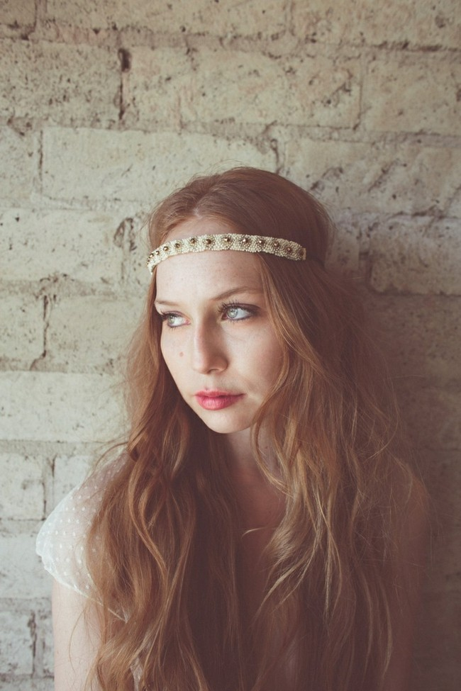 hippie look haarband frisuren eine idee