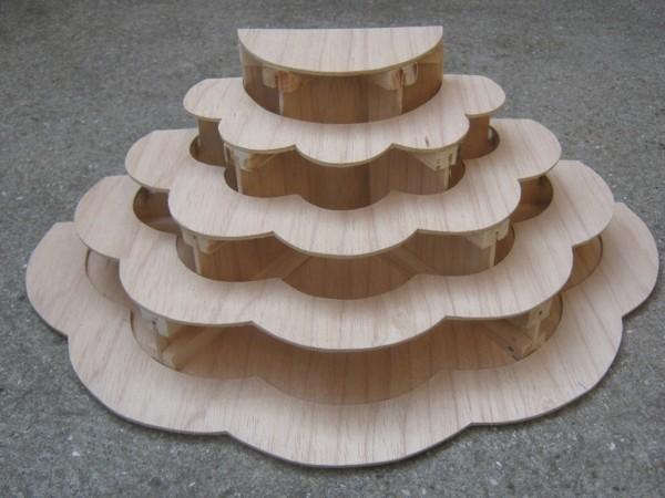 holz kreative etagere cupcake