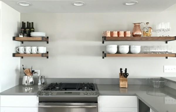 küchenecke offene küchenregale