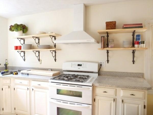 küchenoberschränke und regale kombo
