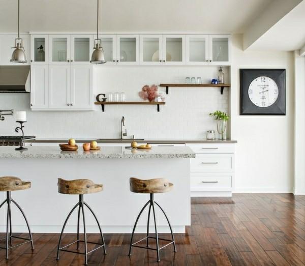 küchenoberschränke und regale modernes konzept