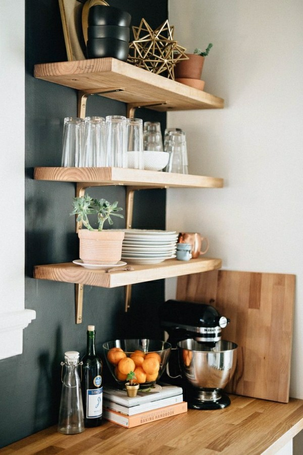 küchenregale efgfektive raumnutzung idee