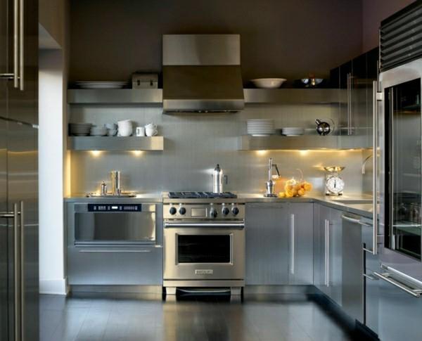 küchenregale küchenmönel metall
