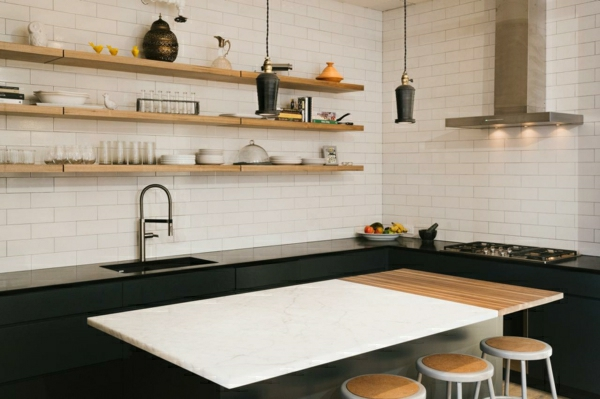 küchenregale offen holz