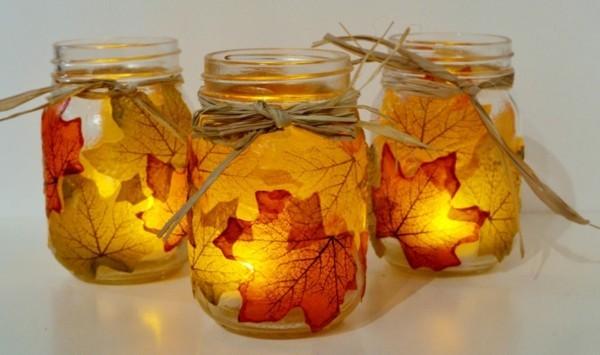 kerzen gießen gläser dekorieren diy geschenke