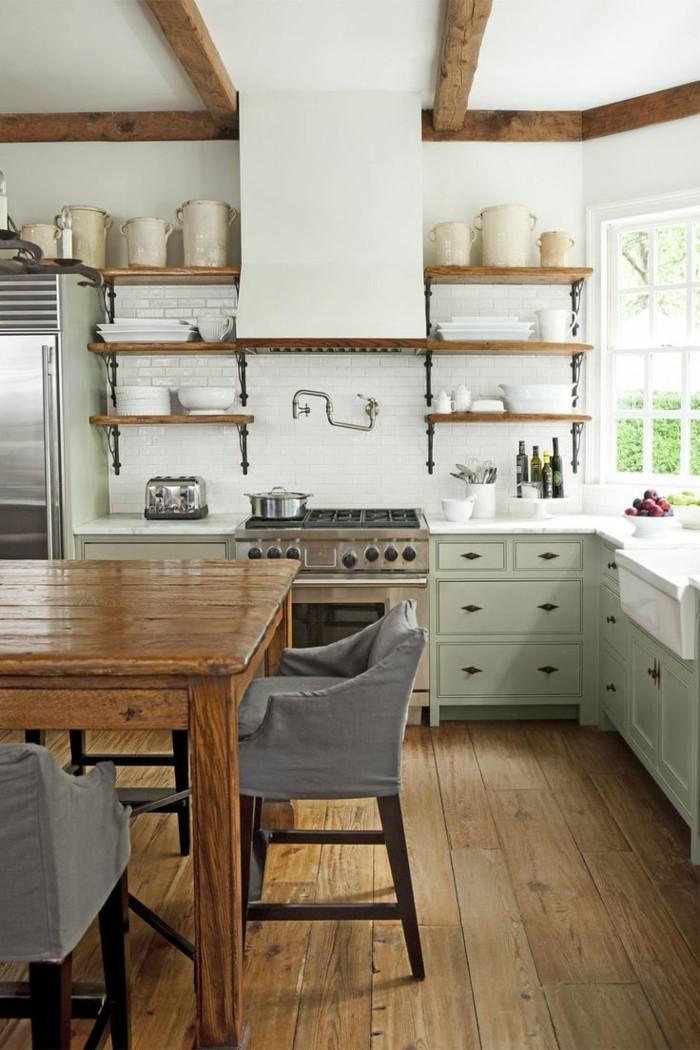 landhausdielen küche küchendesign landhausstil