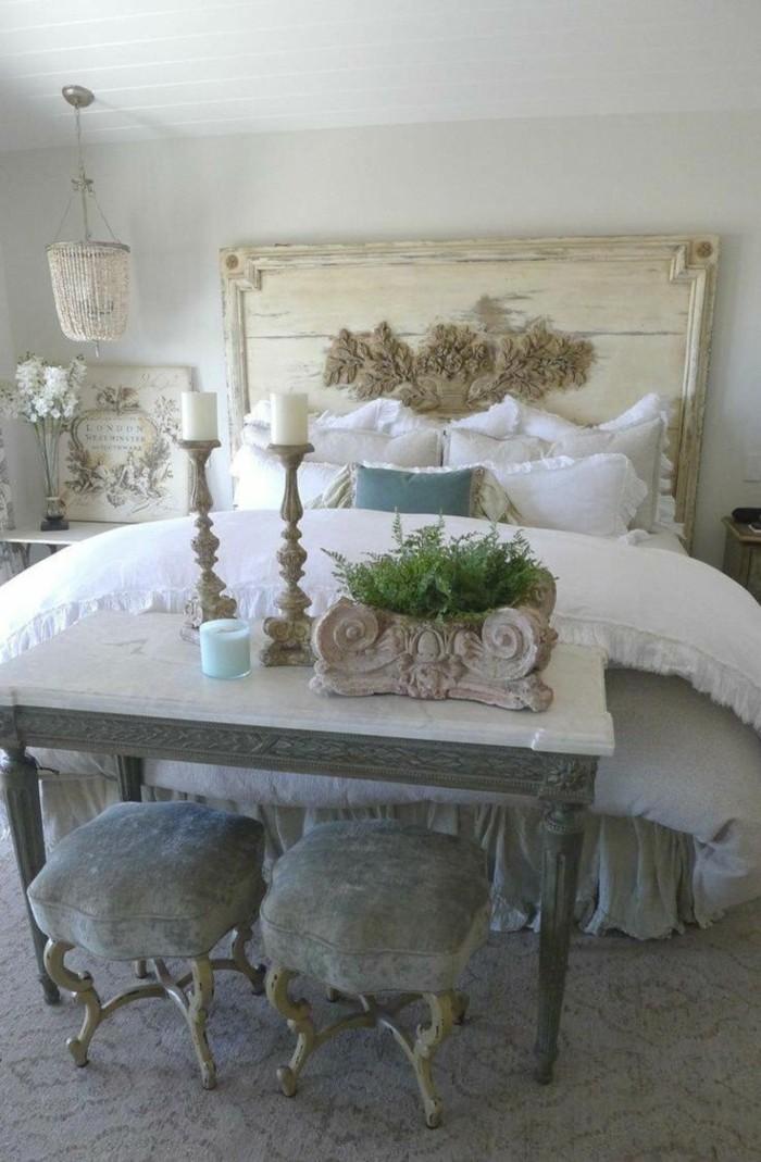 möbel shabby chic schlafzimmer einrichten ideen gemütlich romantisch teppichboden