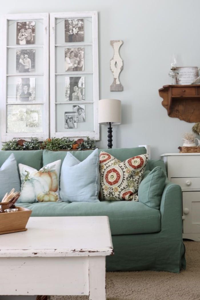 möbel shabby chic shabby chic wohnzimmertisch grünes sofa