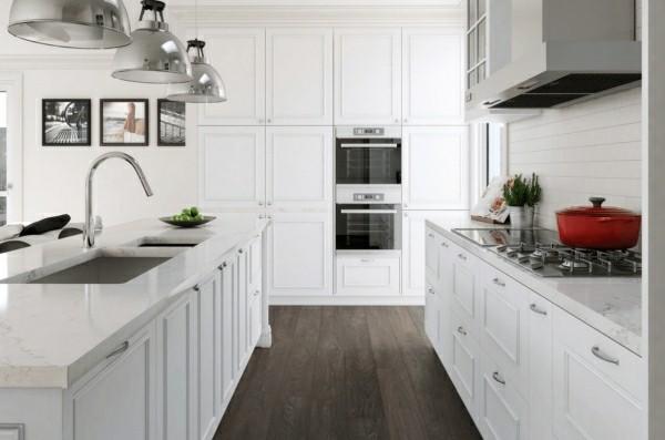 moderne küchenmöbel in weiß küchenoberschränke und regale