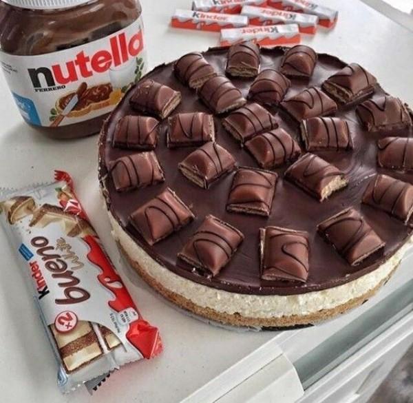 nutella kinder bueno kinderriegel torte zubereiten