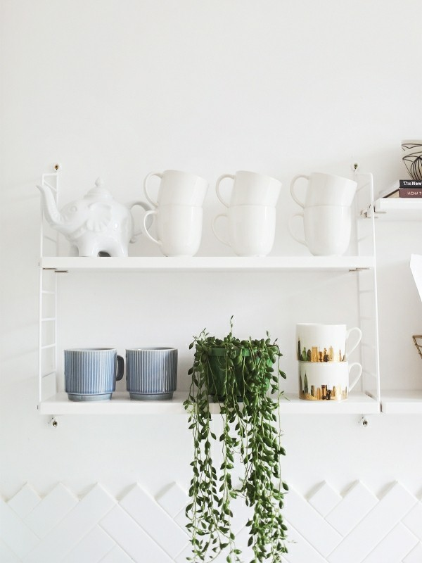offene küchenregale minimalistisch
