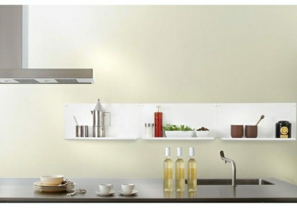 offene regakle minimalistische küche