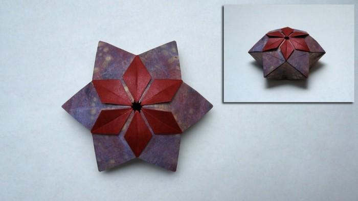 origami anleitung Sterne basteln für Weihnachten