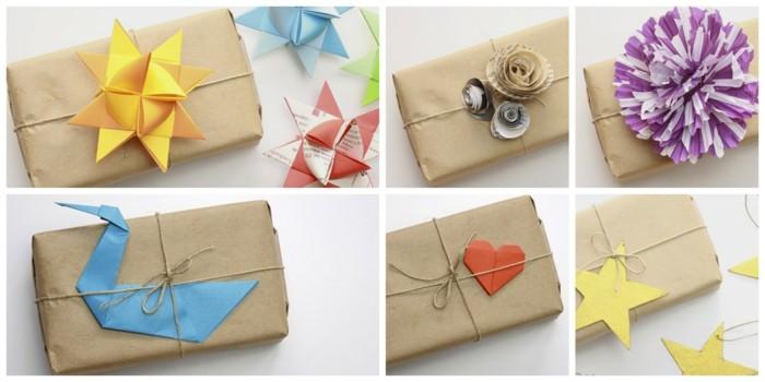 Fr belstern basteln mit einfachen anleitung und - Envolver regalos original ...