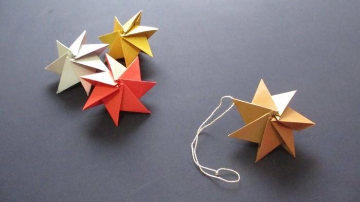 origami weihnachten falten weihnachtsstern anleitung sterne