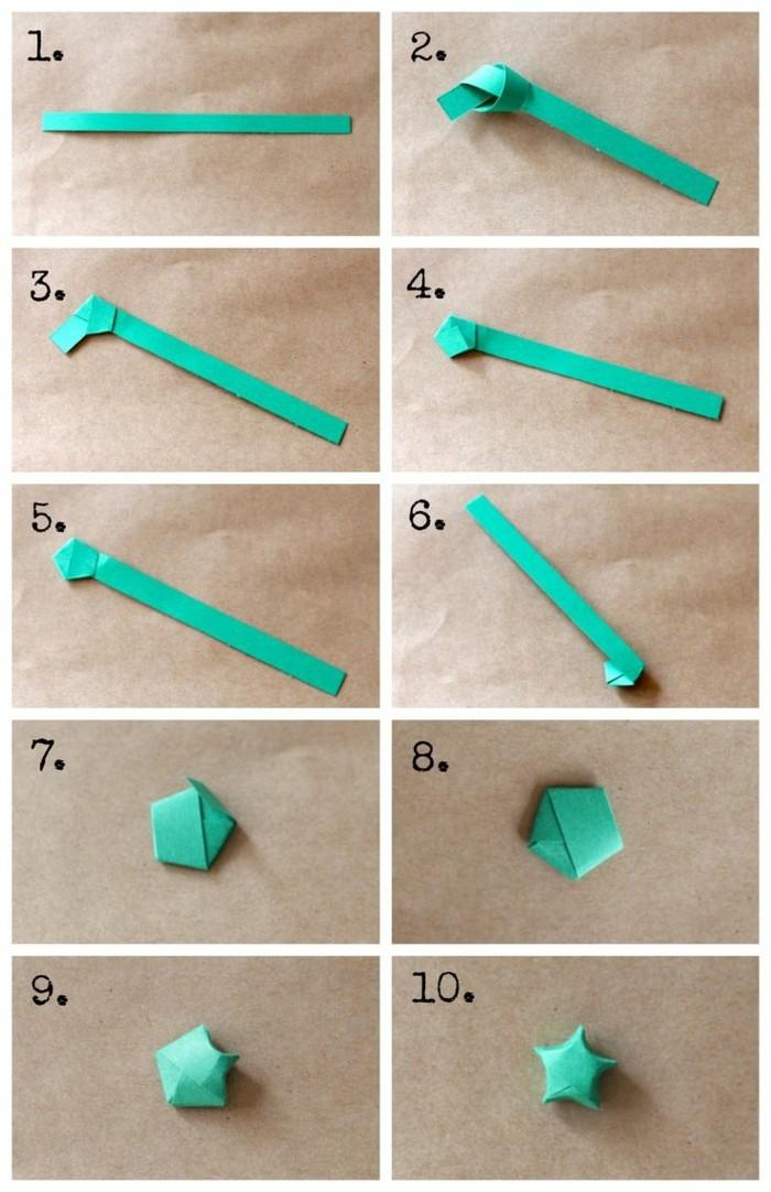 origami weihnachten stern anleitung einfach falttechnik