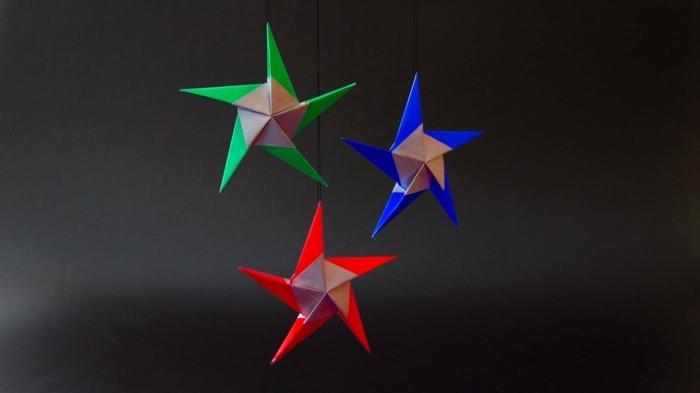 origami weihnachten stern anleitung einfach geschenkpapier weihnachtsdeko