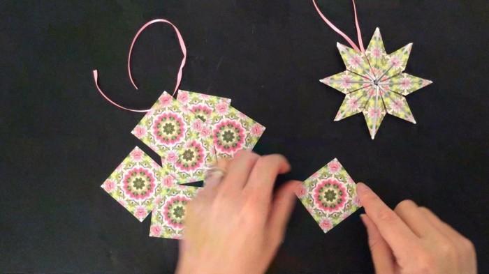 origami weihnachten stern anleitung gelber star ornamente weihnachten