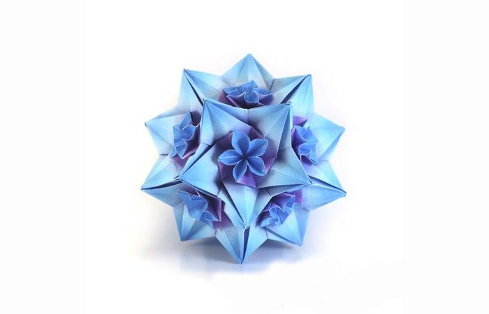 papier weihnachtsstern blau herrnhuter stern selber basteln