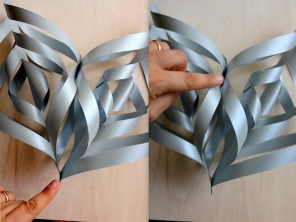 papiersterne basteln als weihnachtsdeko zu hause