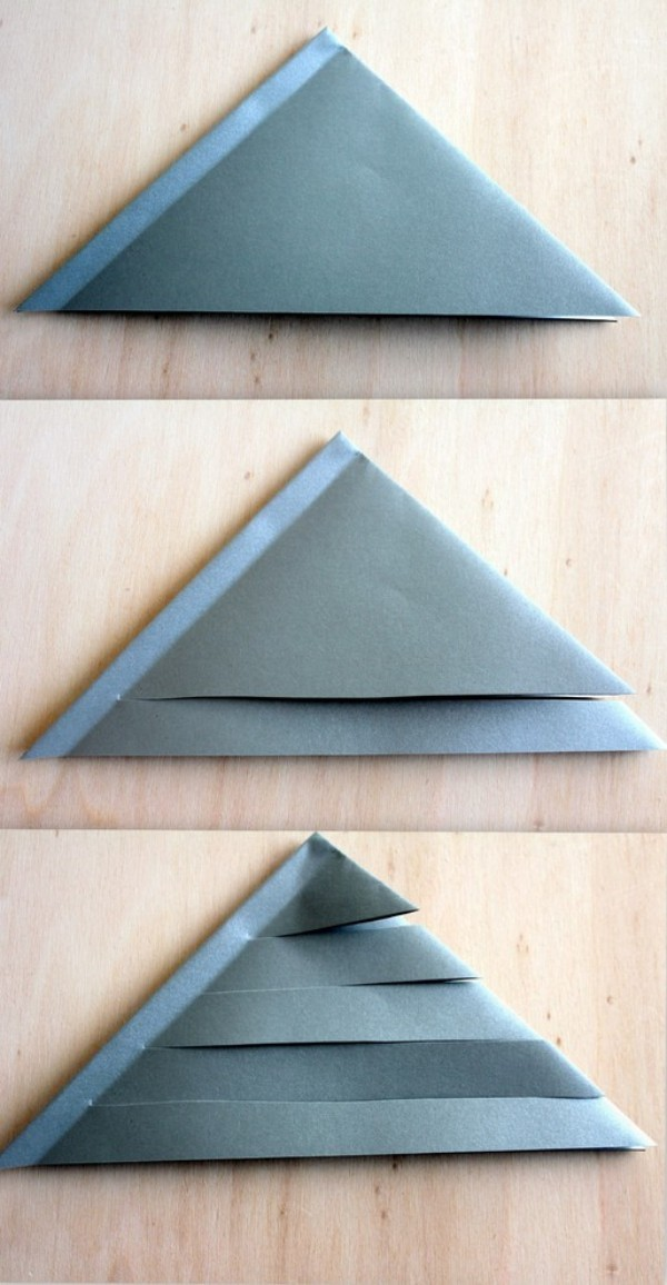 papiersterne basteln dreiecken aus papier