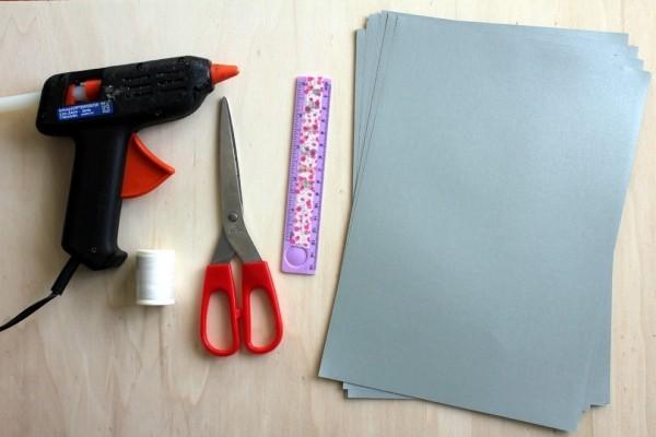 papiersterne basteln materialien schere papier kleber lineal