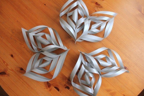 papiersterne basteln sternspitzen aus papier selber machen