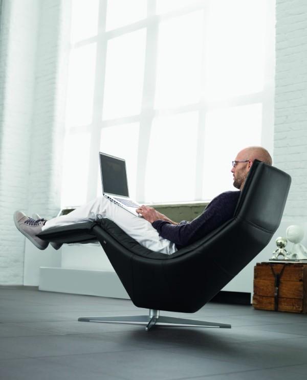 relax stuhl liegend schwarz
