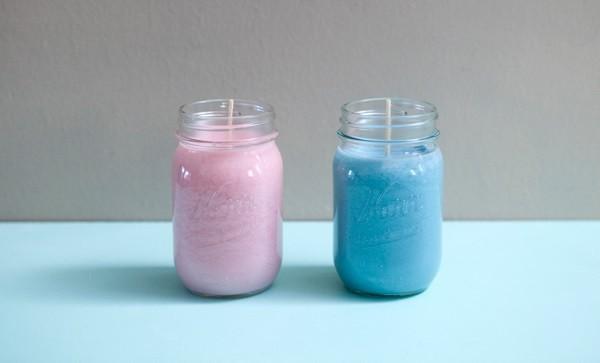 rosa blau diy kerzen gießen im glas
