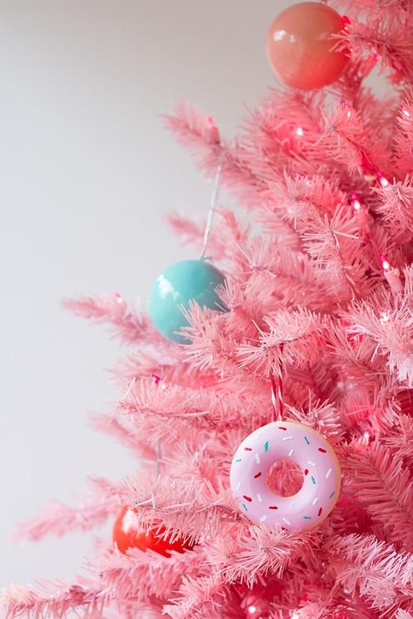 rosa tannenbaum weihnachten ideen