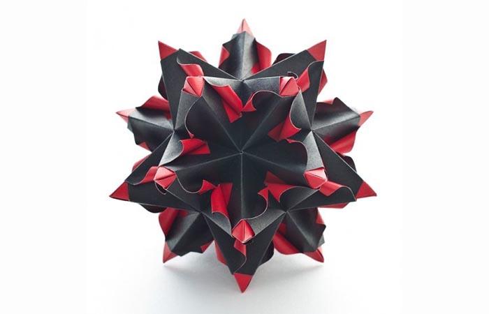 rot schwarz papierstern herrnhuter stern selber basteln