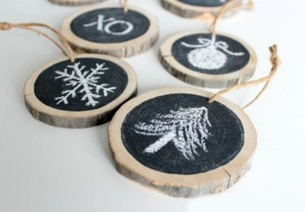 schlichte münzen aus holz weihnachtsbaumschmuck