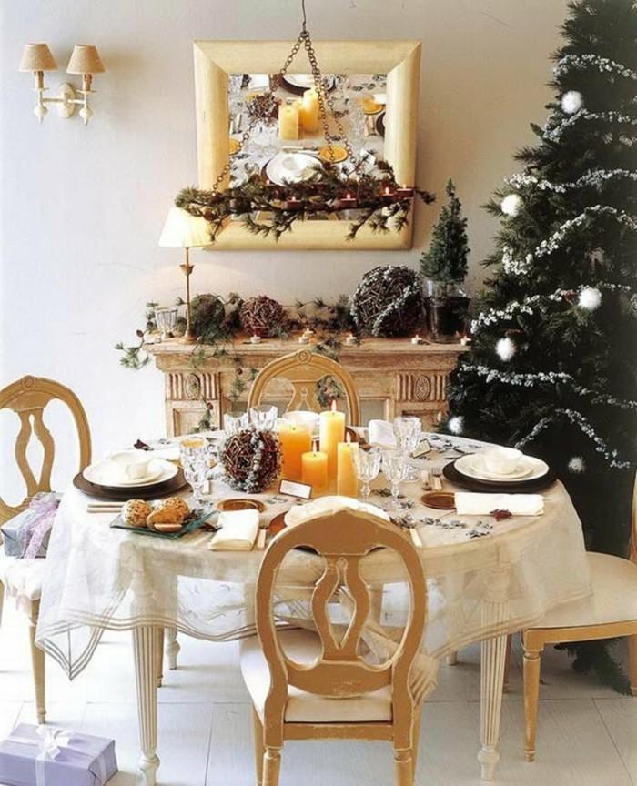 schlichte weihnachtliche tischdekoration naturgaben