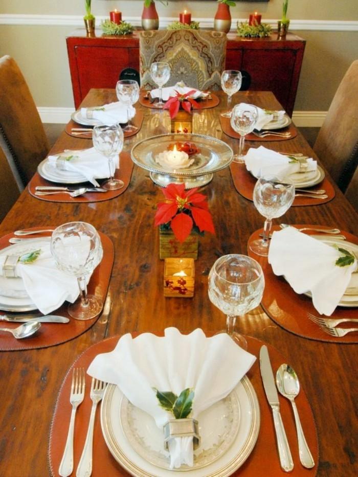 sehr einfache und schöne Tischsets mit kleinen Blättern