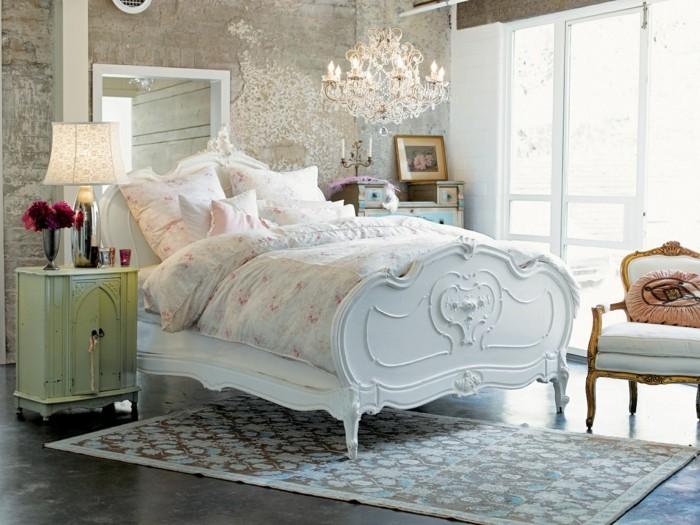 shabby chic moebel schlafzimmer einrichten romantisches flair