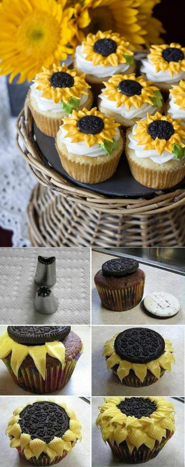 sonnenblumen etagere cupcake