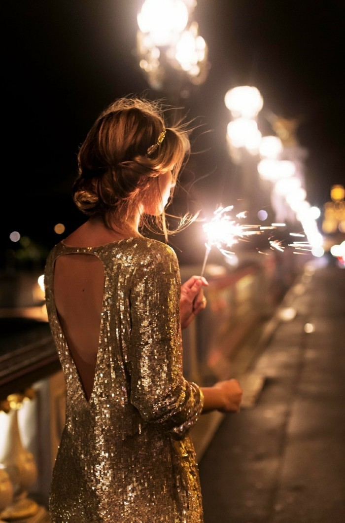 sylvester 2017 party frisuren flechtfrisur goldenes kleid