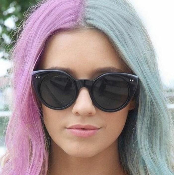 sylvester 2017 party frisuren gespiltete haarfarbe