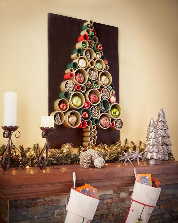 ber 20 diy ideen wie sie einen weihnachtsbaum basteln. Black Bedroom Furniture Sets. Home Design Ideas