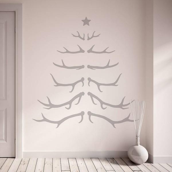 tannenbaum basteln wandtattoo weihnachtsbaum