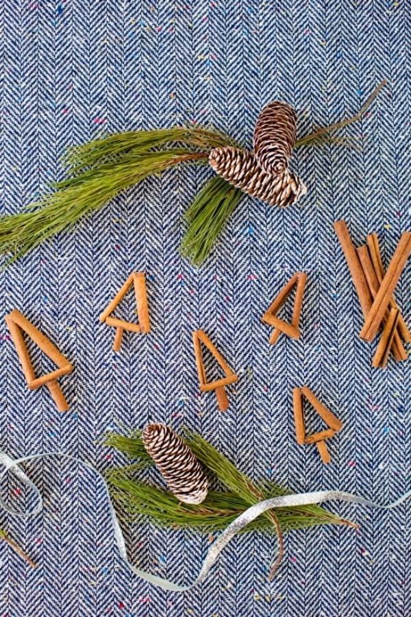 tannenbaum figuren aus bastelstäbchen schmuck weihnachten