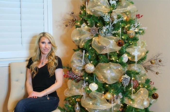 tannenbaum schmuecken deko ideen weihnachtsschmuck pracht