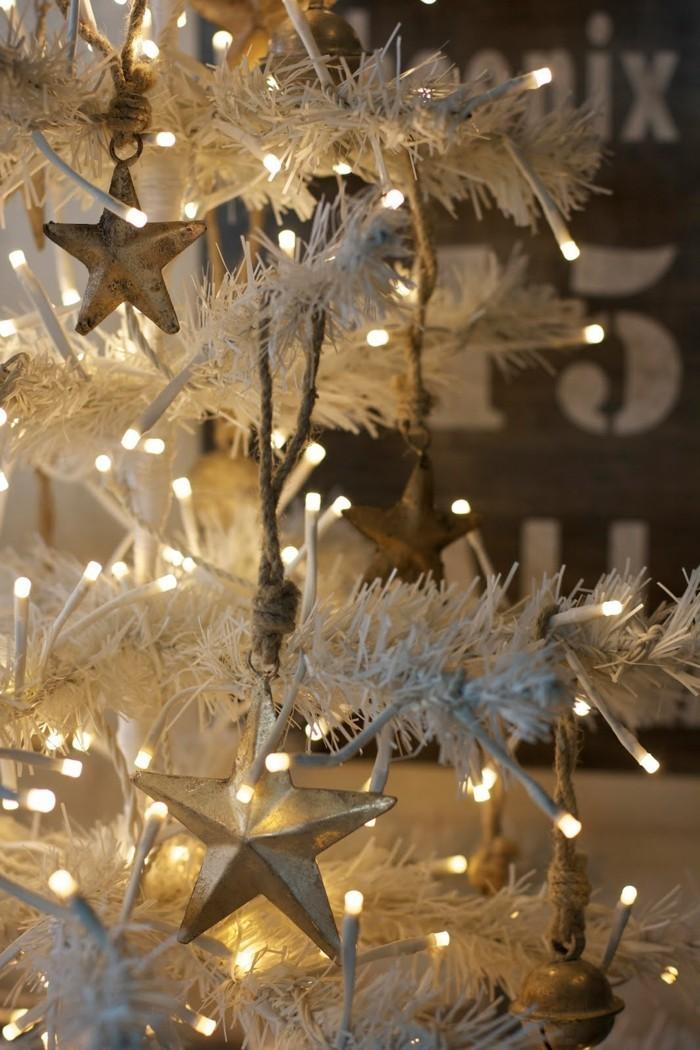 tannenbaum schmuecken deko ideen weihnachtsschmuck sterne