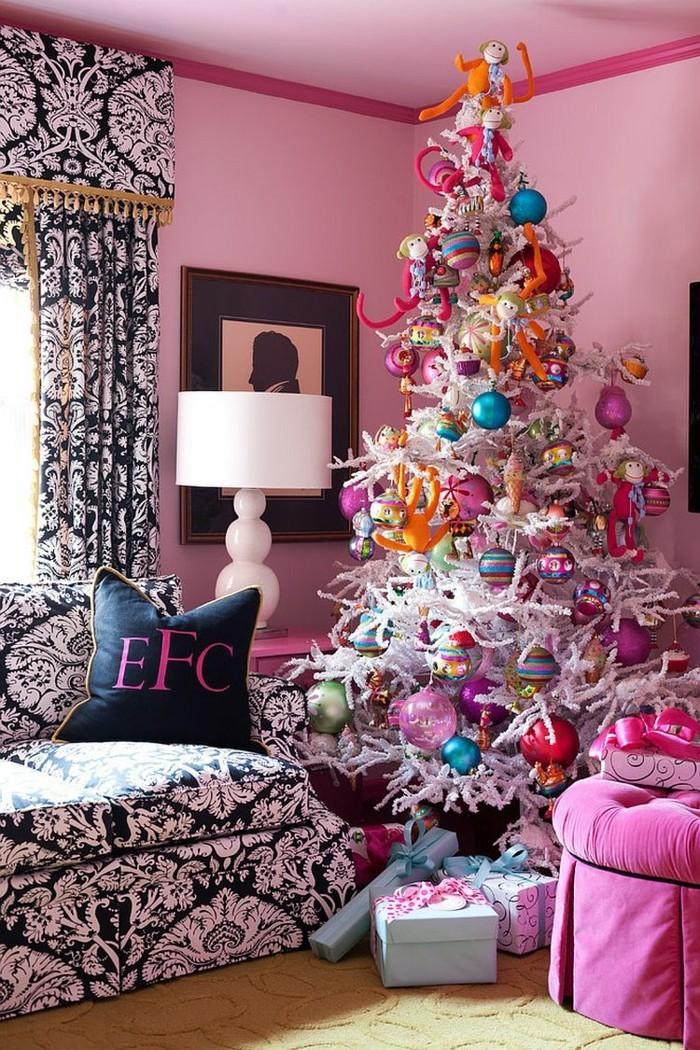 tannenbaum schmuecken deko ideen weihnachtsschmuck tussig