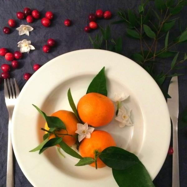 teller mit orangen weihnachten ideen