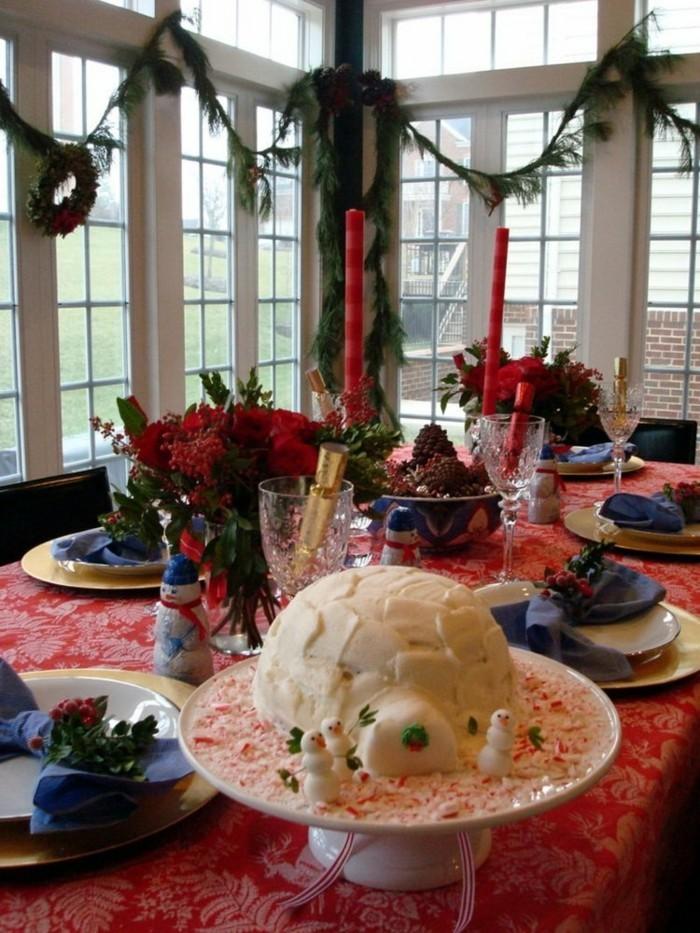 tischsets und tischdekoration weihnachten