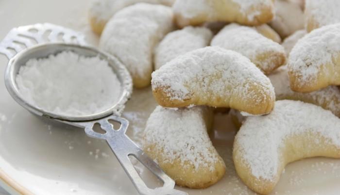 vanillekipferl ohne ei vegane plätzchen backen puderzucker